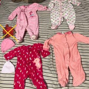 Wholesale bundle 6pcs Girls Kid Baby Clothes 0-3M